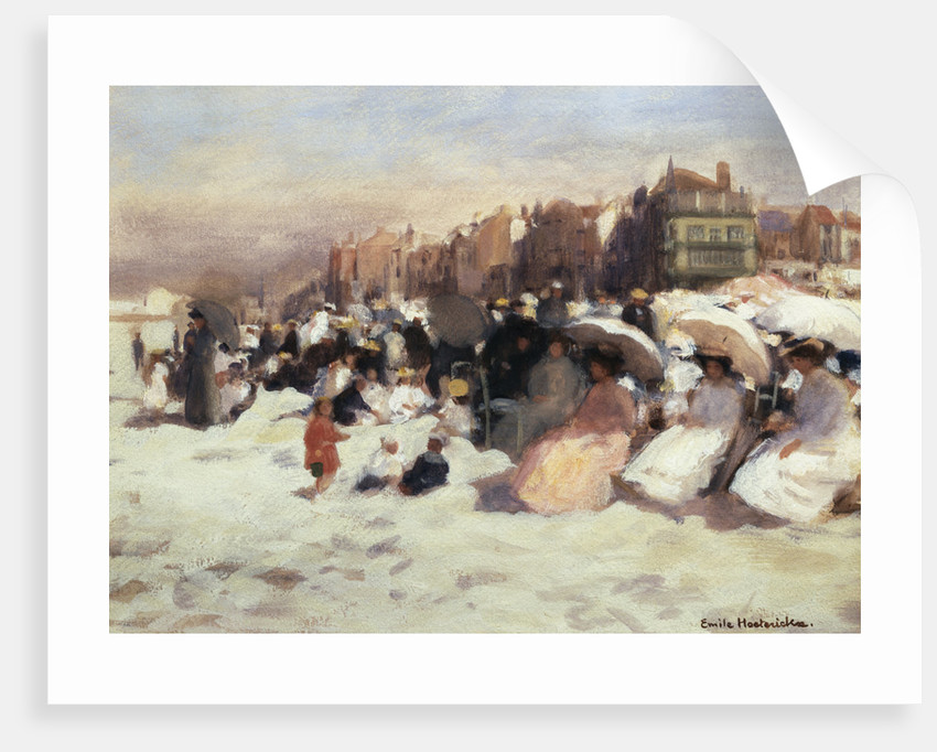 On the Sands by Emile Hoeterickx
