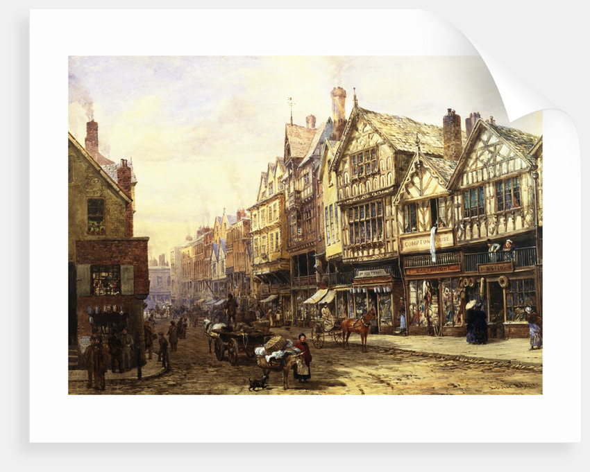Bridge Street, Chester, England by Louise Rayner