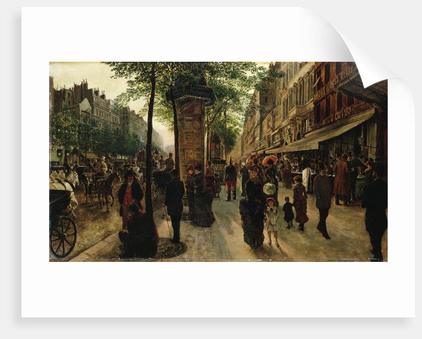 Boulevard des Italiens by Tito Lessi