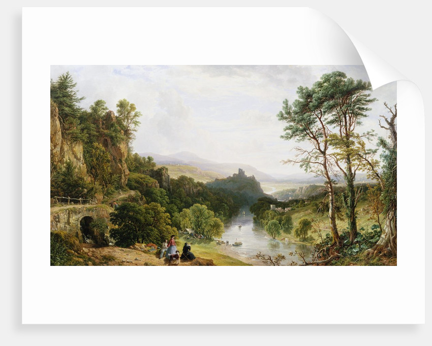 A View of the Wye River, South Wales by John F. Tennant