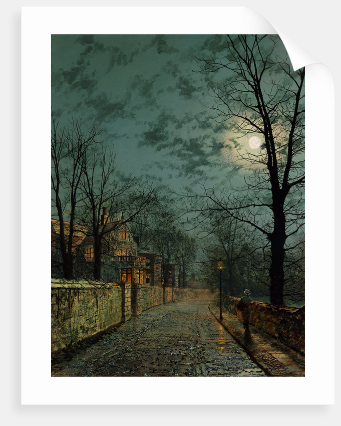 A Wet Winter's Evening by John Atkinson Grimshaw