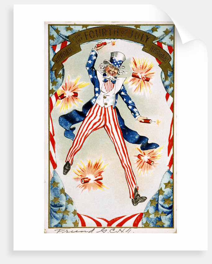 Hurrah for the Fouth of July! Hurray! Postcard by Corbis