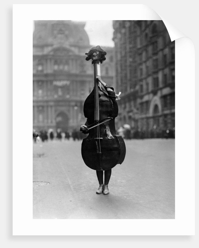 Walking Violin in Philadelphia Mummers' Parade, 1917 by Corbis