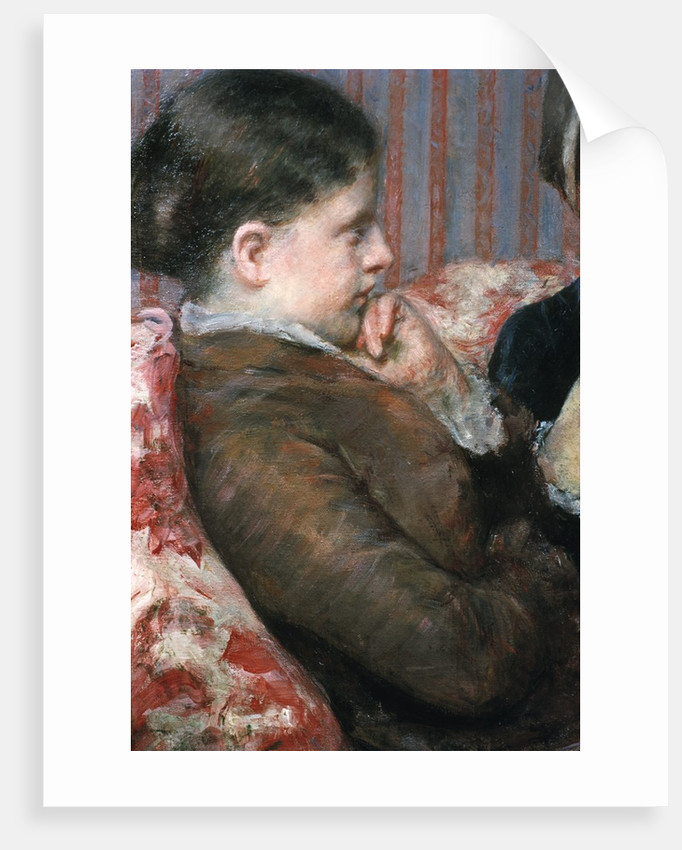 Detail Showing Profile of Woman from A Cup of Tea by Mary Cassatt