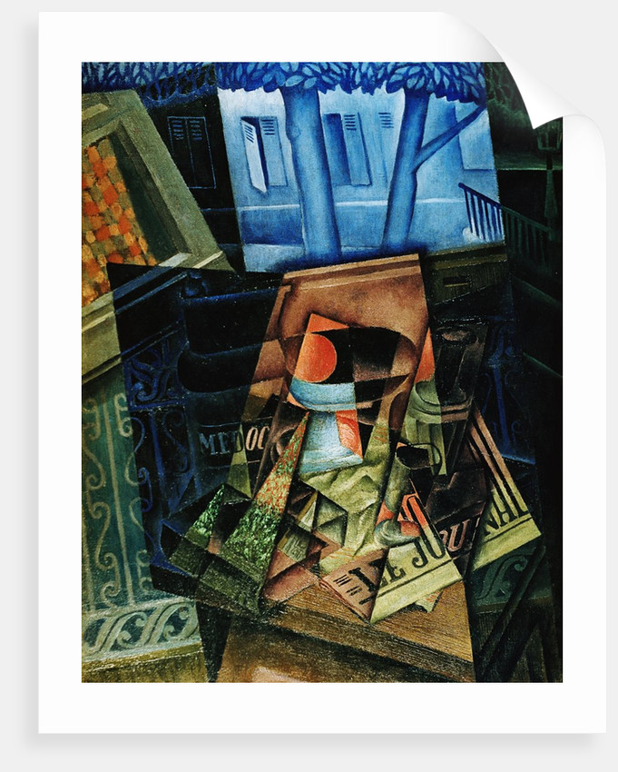 Juan Gris The open windows Giclee Art Paper Print Paintings Poster Reproduction