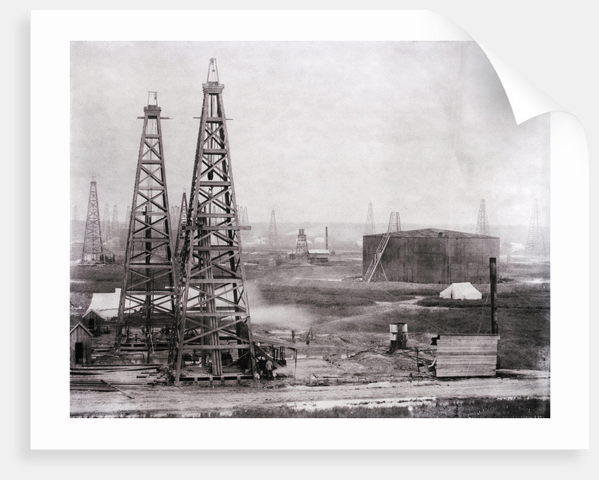 Oilfield At Spindletop by Corbis
