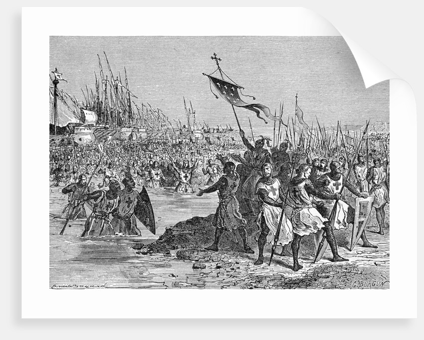 Crusaders Landing In Egypt by Corbis