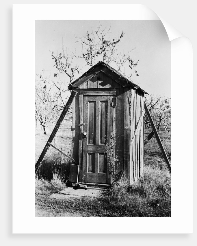 Outhouse On A Farm by Corbis