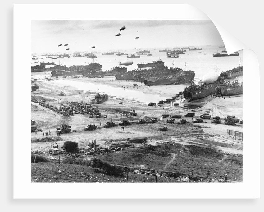 Allied Forces at a Beach in Normandy by Corbis