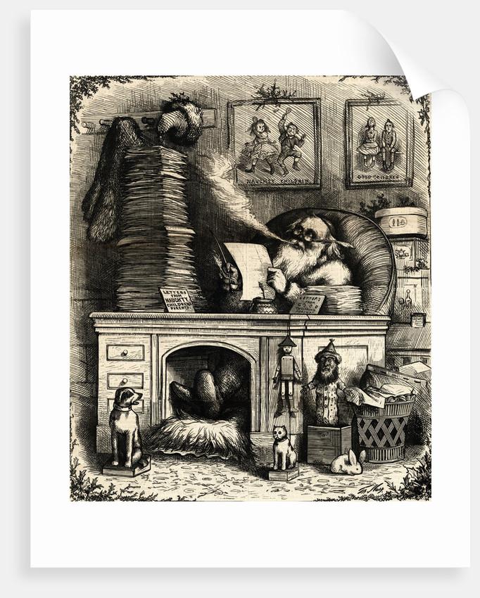 Woodcut; Santa Claus On Christmas Night by Corbis