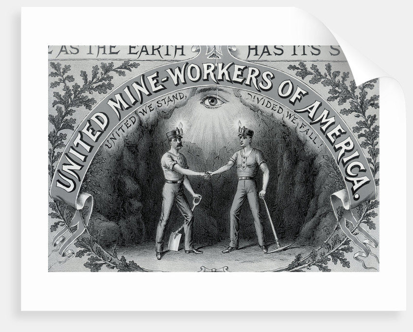 Lithograph with United Mine Workers of America Emblem by Corbis