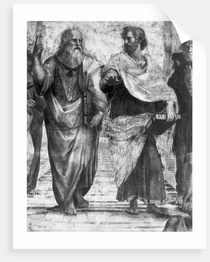 Detail Showing Plato and Aristotle from The School of Athens By Raphael by Corbis