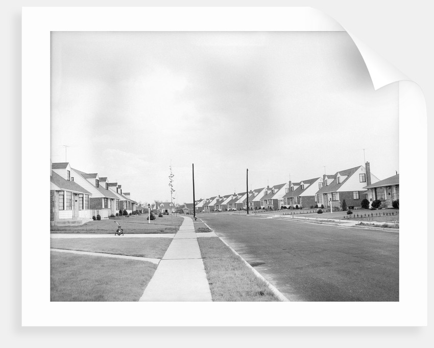 Houses In Levittown, Long Island by Corbis