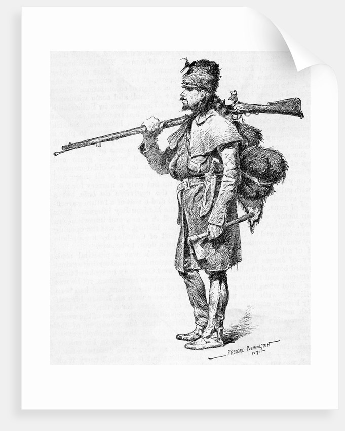 Courrier du Bois by Frederic Remington