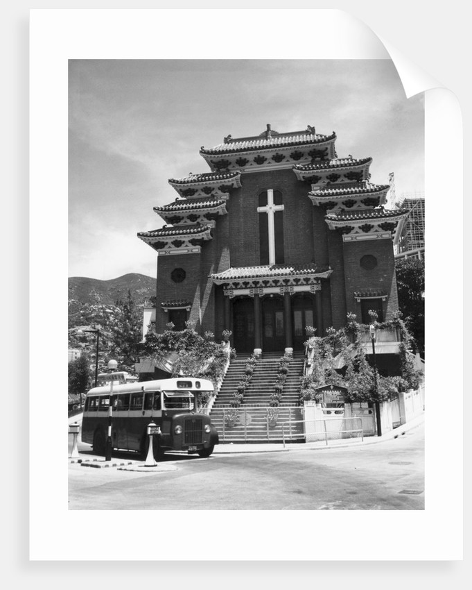 Church Showing Chinese Architecture by Corbis