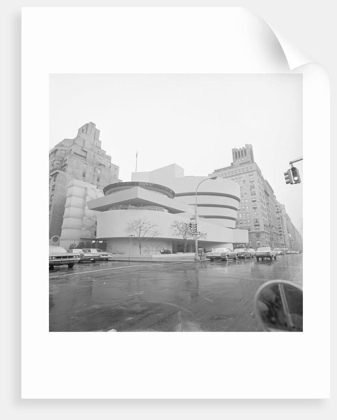 Exterior Of Guggenheim Museum 1970 by Corbis