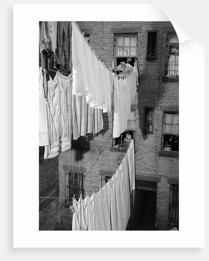 Laundry Drying on Lines by Corbis