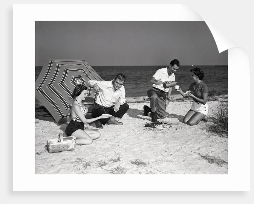 Picnic on the Beach by Corbis