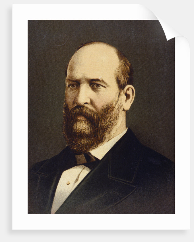 Lithograph of James A. Garfield by Corbis