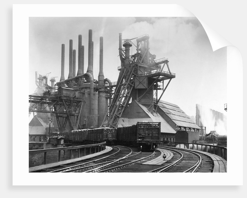 Blast Furnace Of The Carnegie Steel Corp by Corbis