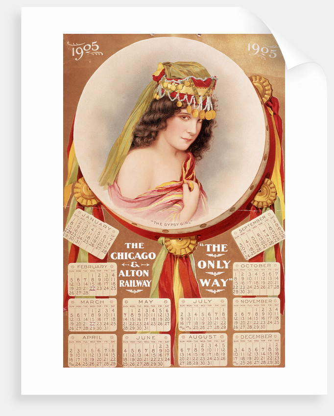 Calendar From Chicago And Alton Railroad by Corbis