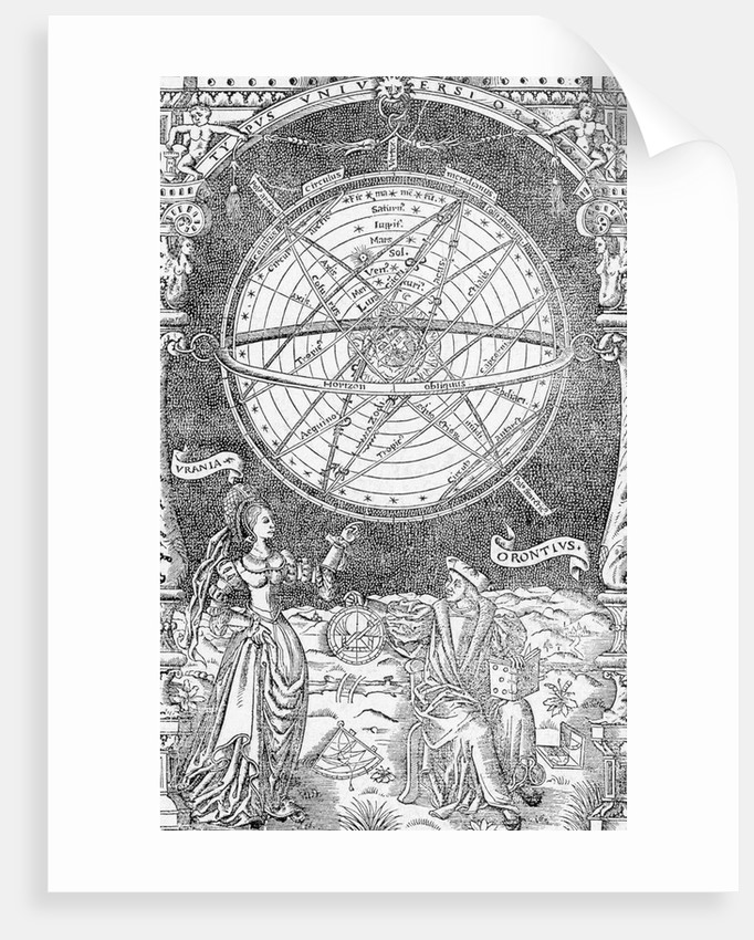 Urania and Orontis Discussing Celestial Map by Corbis
