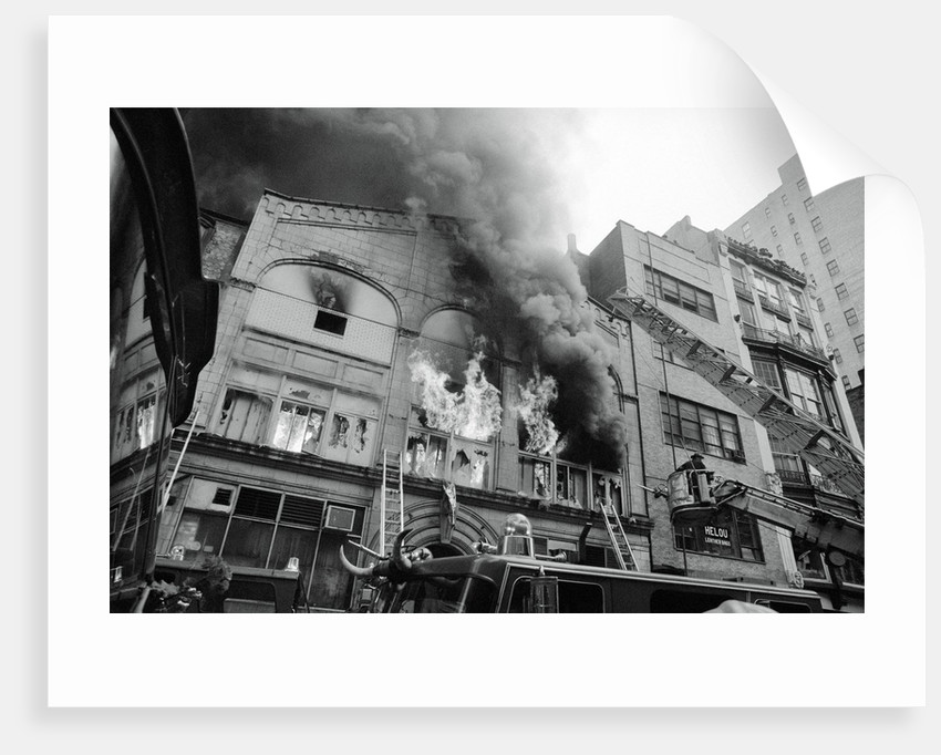 Burning Building by Corbis