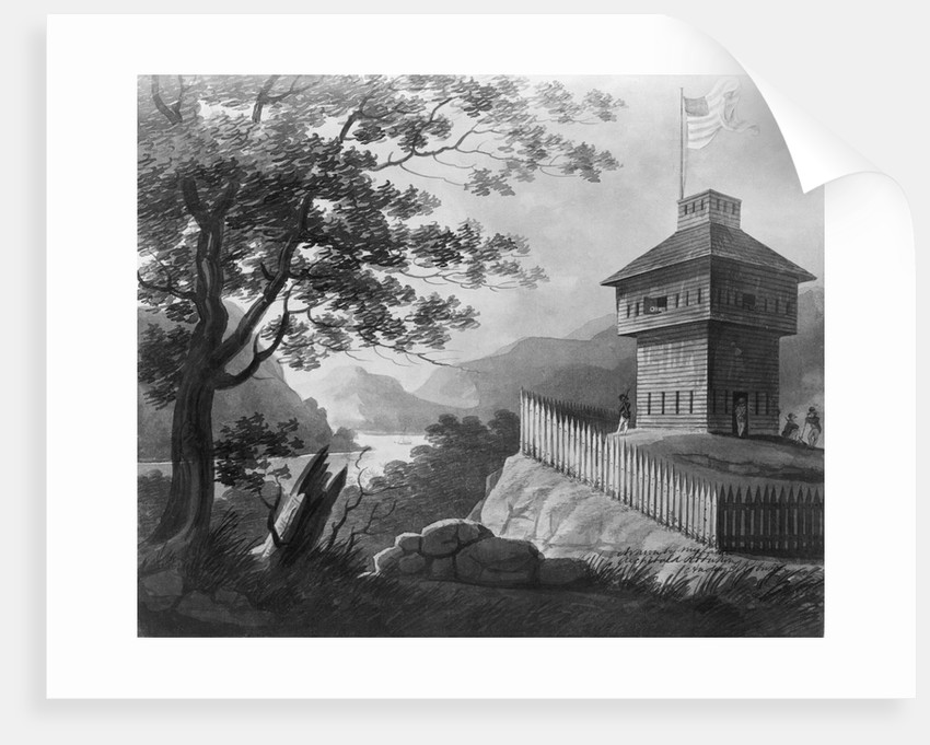 Blockhouse At West Point, 1802, Painting by Corbis