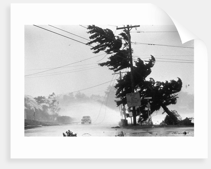 Water Falls/Car Stopped/Down Power Lines by Corbis