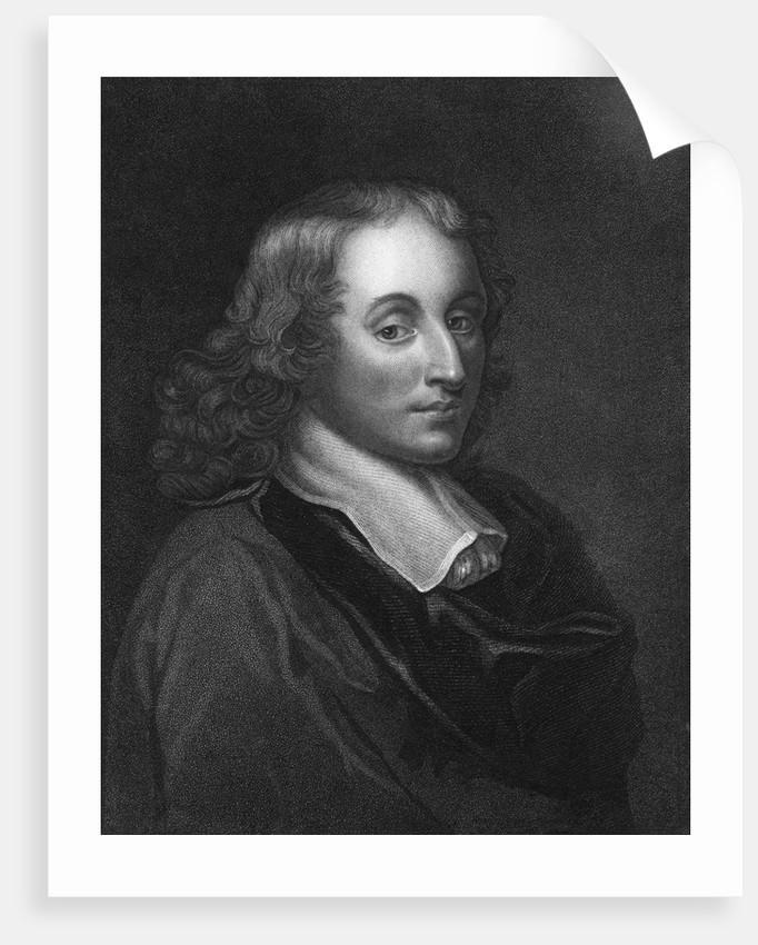 Blaise Pascal Engraving by Henry Hoppner Meyer