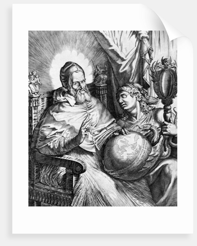 Pope Gregory Seated with Globe in Lap by Corbis