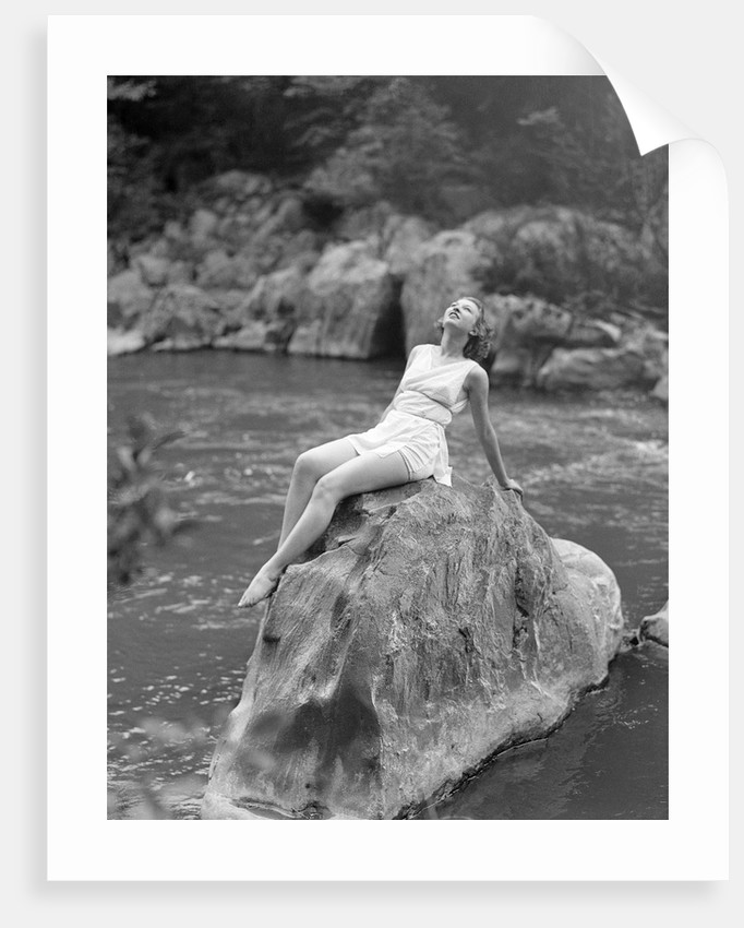 Woman in Bathing Costume by Corbis