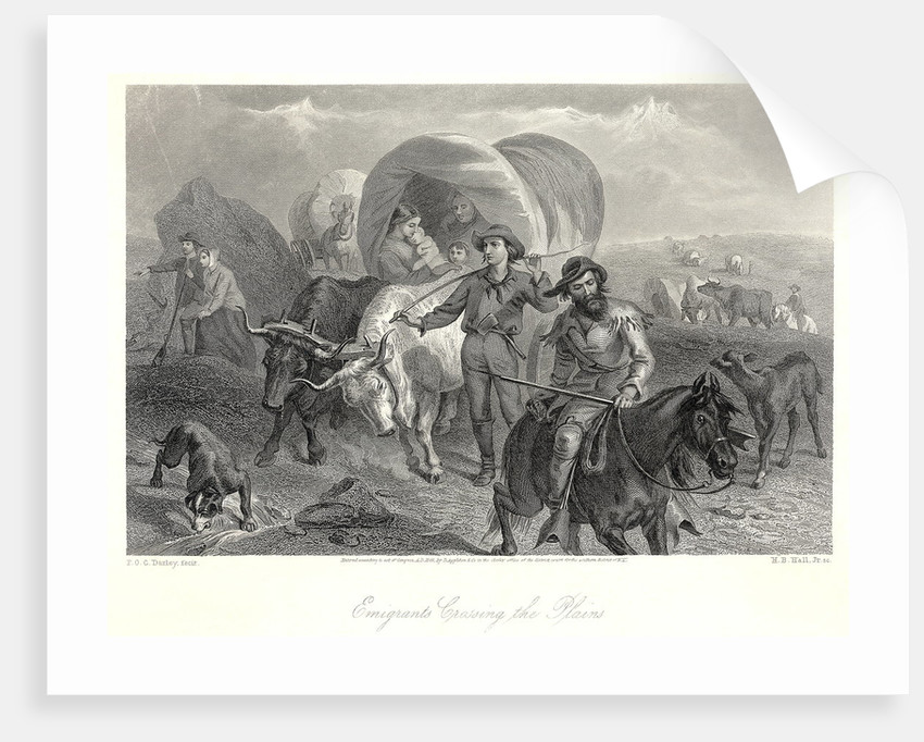 Engraving- Emigrants Crossing The Plains by Corbis