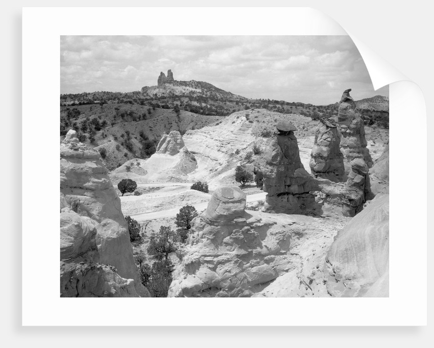 Rock Formations In Desert Of New Mexico by Corbis