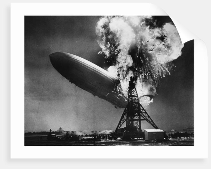 Hindenburg Explosion by Corbis