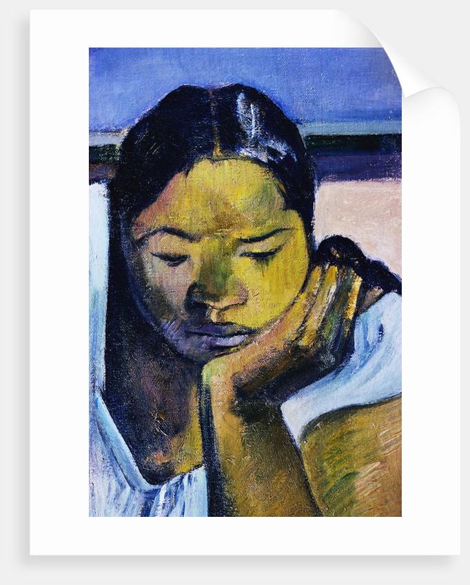 Detail of Woman from Te Faaturuma by Paul Gauguin