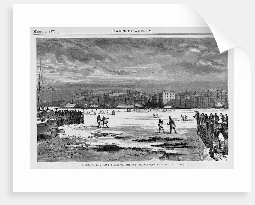 Crossing the Frozen East River, New York by Corbis