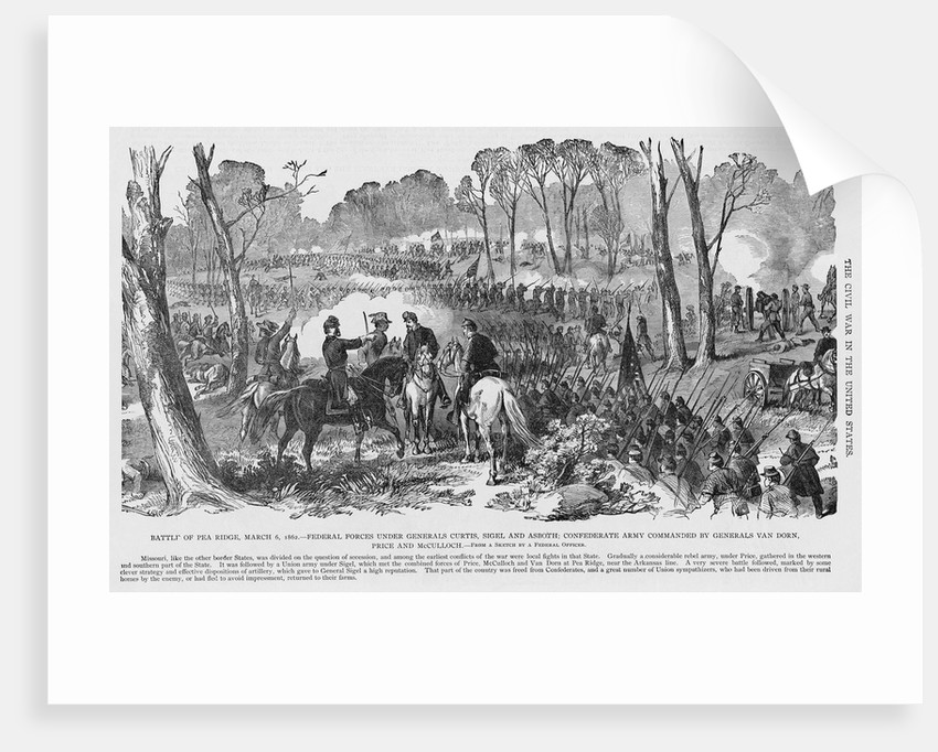 Battle of Pea Ridge by Corbis