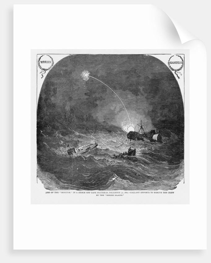 USS Monitor Sinking by Corbis