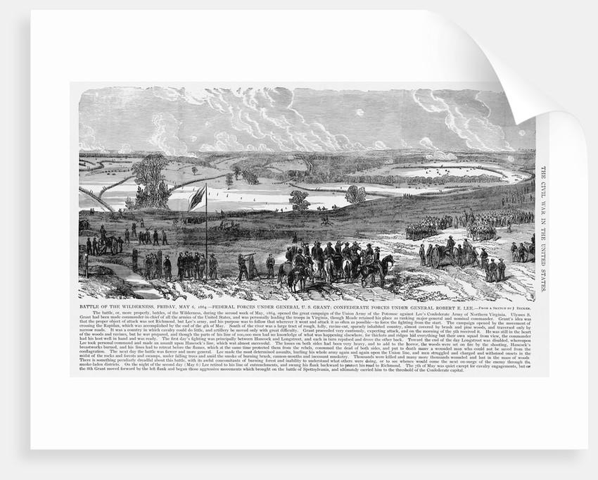 Battle of the Wilderness by Corbis