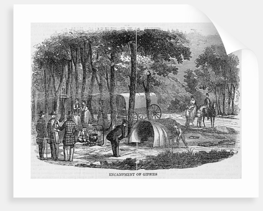A Small Gypsy Camp by Corbis
