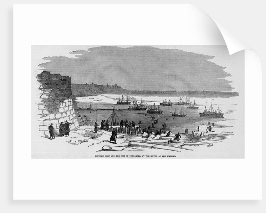 Kinburn Fort and the Spit of Otchakoff, at the Mouth of the Dneiper by Corbis