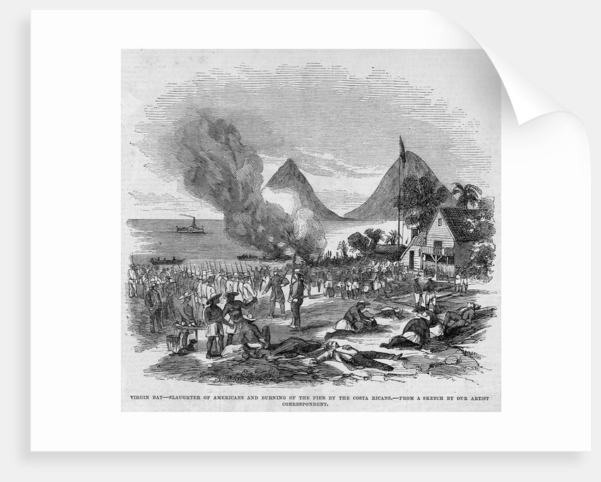 Virgin Bay, Slaughter of Americans and Burning of the Pier by the Costa Ricans by Corbis