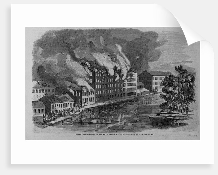 Great Conflagration of the No. 1 Nashua Manufacturing Company, New Hampshire by Corbis
