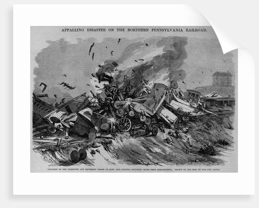 Collision of the Passenger and Excursion Trains at Camp Hill Station, Fourteen Miles from Philadelp by Corbis
