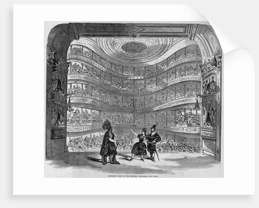 Interior View of the Bowery Theatre, New York Illustration by Corbis