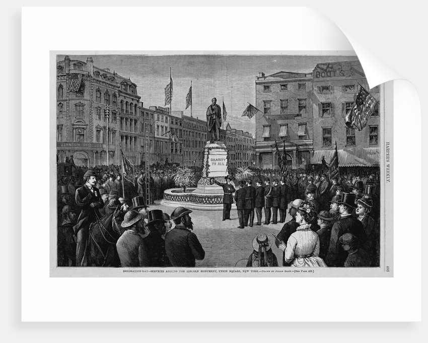Decoration Day-Services Around the Lincoln Monument, Union Square, New York by Corbis