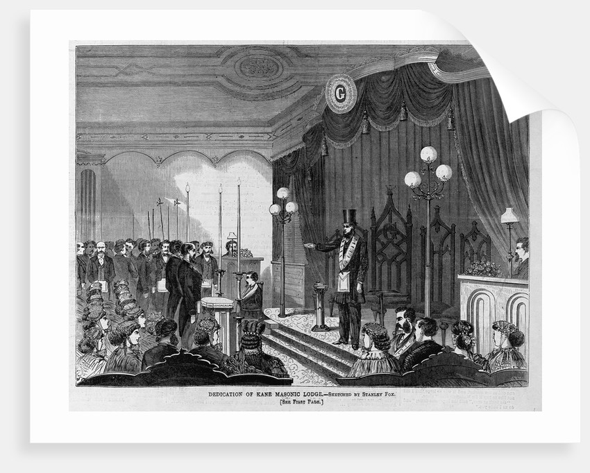 Dedication of Kane Masonic Lodge by Stanley Fox