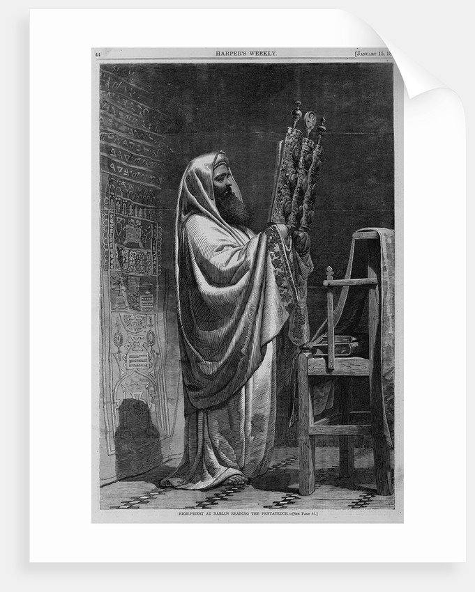 High-priest at Nablus reading the pentateuch by Corbis