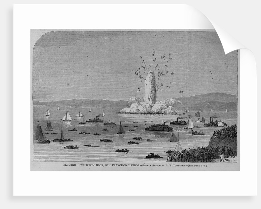 Blowling up Blossom Rock, San Francisco Harbor. From a sketch by L. R. Townsend by Corbis